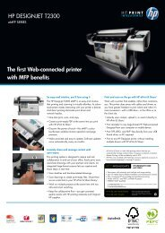 HP DESIGNJET T2300 The first Web-connected printer ... - CGS plus