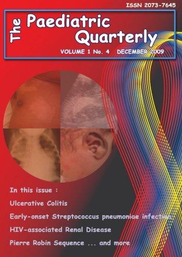 Volume 1 no. 4 December 2009 - The Paediatric Quarterly