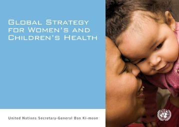 Global Stategy for Womens and Childrens Health - GAVI Alliance