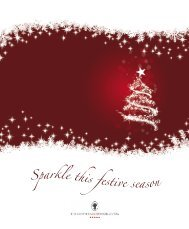 Sparkle this festive season - The Chester Grosvenor