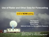 Use of Radar and Other Data for Forecasting - UCAR Africa Initiative