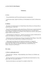 ao. Univ.-Prof. Dr. Stefan Hammer Publications I. Livres - Institut für ...