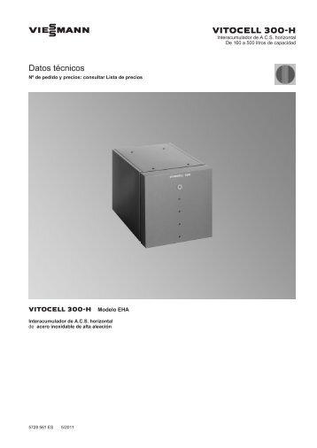 Datos técnicos Vitocell 300-H EHA556 KB - Viessmann