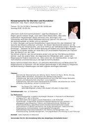 Körpersprache Seminar - Quetheb