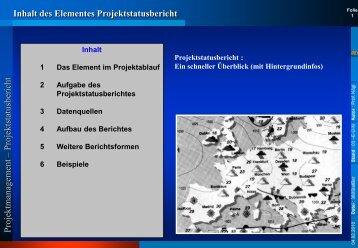 l Projektstatusbericht - Rz.fh-augsburg.de