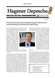 Hagener Depesche Nr. 7 - FernUniversität in Hagen