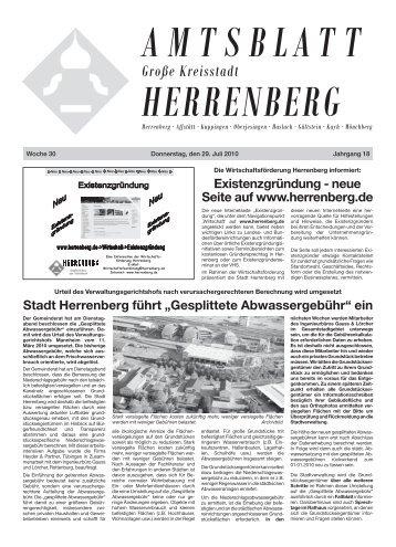 Gesplittete Abwassergebühr - Herrenberg