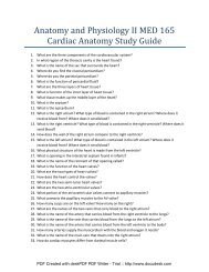 Study guide for heart anatomy