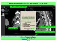 Applied Radiology Clinical Quiz in BRIT Systems' DICOM Viewer