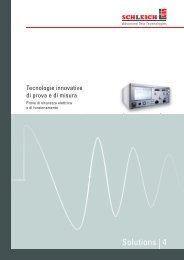 Catalogo Schleich: strumenti per prove su motori - Volta SpA
