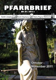 Download Pfarrbrief-2011-06.pdf - St. Joseph, Siemensstadt
