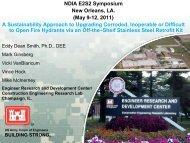 NDIA E2S2 Symposium New Orleans, LA. (May 9-12, 2011) A ...