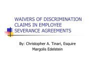 Waivers of Discrimination Claims in Employee Severance Agreements