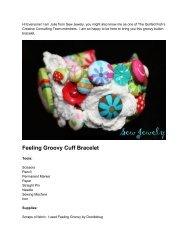 Feeling Groovy Cuff Bracelet - Riley Blake Designs