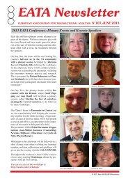 EATA Newsletter - European Association for Transactional Analysis