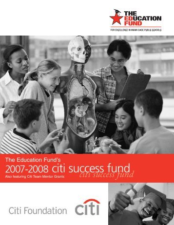 2007-08 Citi Success Fund Award Booklet - The Education Fund