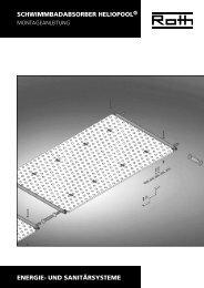 Solar Schwimmbadabsorber HelioPool - Roth Werke