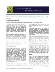 Influence of Cernitin Extracts on Serum and Liver Lipids ... - Graminex