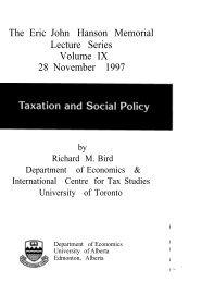 Richard Bird - Institute for Public Economics - University of Alberta