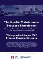 The Nordic Maintenance Business Experience! - Mentor Online