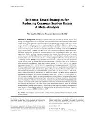 Evidence-Based Strategies for Reducing Cesarean Section Rates: A ...