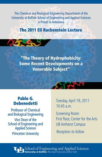 2011 Eli Ruckenstein Lecture Brochure - Chemical and Biological ...