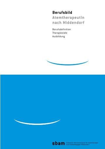 Berufsbild Atemtherapeutin Middendorf - sbam
