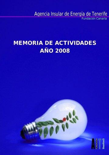 Memoria de actividades 2008 - Agencia Insular de Energía de ...