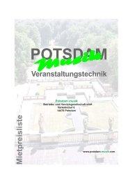 mpl - Potsdam musik Veranstaltungstechnik