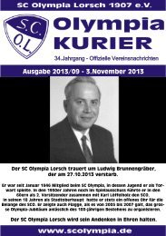 Kurier 09-2013 - SC Olympia Lorsch 1907 eV