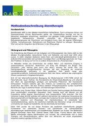 Methodenbeschreibung Atemtherapie - sbam