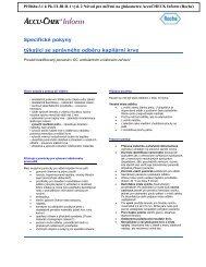 Specifické pokyny pro správný odběr kapilární krve