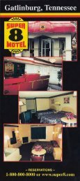 Super 8 Gatlinburg Brochure (865) 436-9750 - East Great Smoky ...