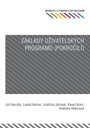 základy uživatelských programů (pokročilí) - pokrok - UJEP