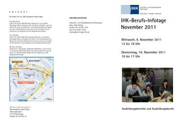 IHK-Berufs-Infotage November 2011