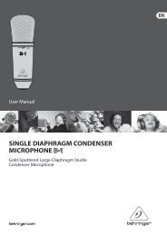 SINGLE DIAPHRAGM CONDENSER MICROPHONE - Behringer