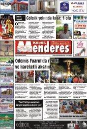 08 Eylül Tarihli Küçükmenderes Gazetesi