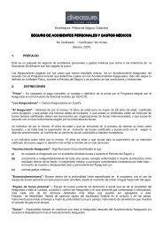 seguro de accidentes personales y gastos médicos - Acuc