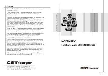 LASERMARK® Rotationslaser LMH/C/GR/600 - CST/berger