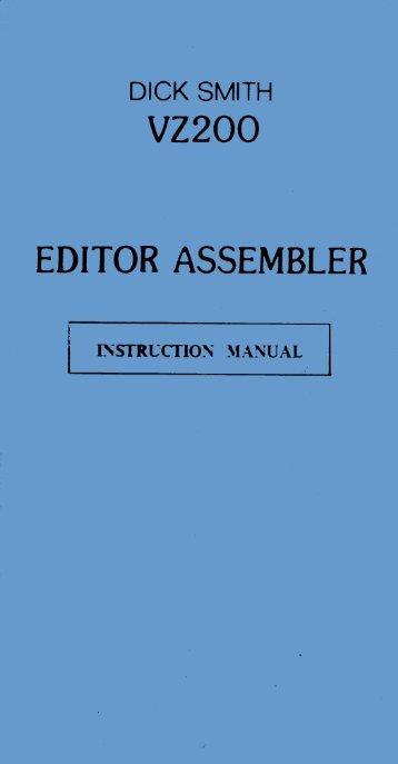 Editor / Assembler Manual - The MESSUI Place