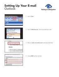 Setting Up Email in Outlook 2003 - Buckeye CableSystem