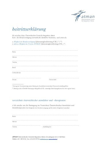 beitrittserklärung - atman