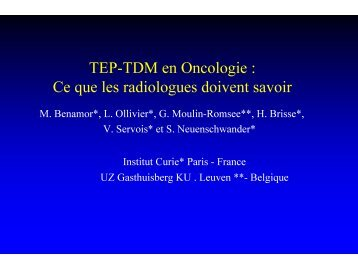 TEP-TDM en Oncologie : Ce que les radiologues doivent savoir