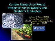 Advances in Freeze Protection for Small Fruits and Vegetables