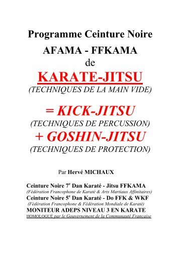 karate-jitsu - Association Francophone d'Arts Martiaux Affinitaires