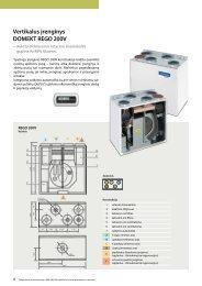 Vertikalus įrenginys DOMEKT REGO 200V - Komfovent