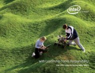 2007 Intel Corporate Responsibility Report.