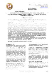 detection of antibodies against avian isolate of influenza a virus ...