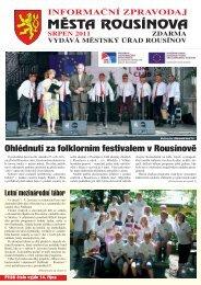 Zpravodaj z 13.08.2011 - Rousínov