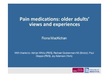 Medication use in older people: experiences and views